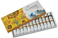 Набор масляных красок СОНЕТ,12цв. по 10мл, ЗКХ картонная уп-ка 2641099