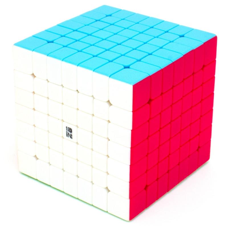 Кубик 7х7 QIYI Qixing, колір, стікери, в коробці