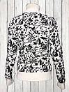 Женский шерстяной свитер Белого цвета с Мишкой, фото 3