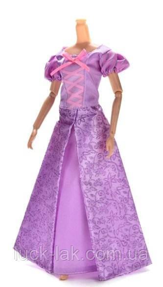 Платье Рапунциль для куклы Барби, фиолетовое