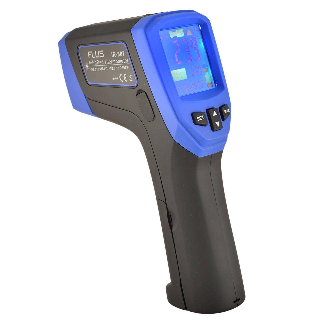 Пірометр-реєстратор з термопарою FLUS IR-867 (-50…+1180 °С)