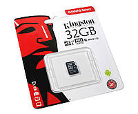 Карта памяти micro SDHC 32Gb Kingston Canvas Select C10 UHS-I (SDCS/32GBSP)
