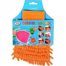 Тряпка-перчатка из микрофибры, 14×17 см                8248, фото 3