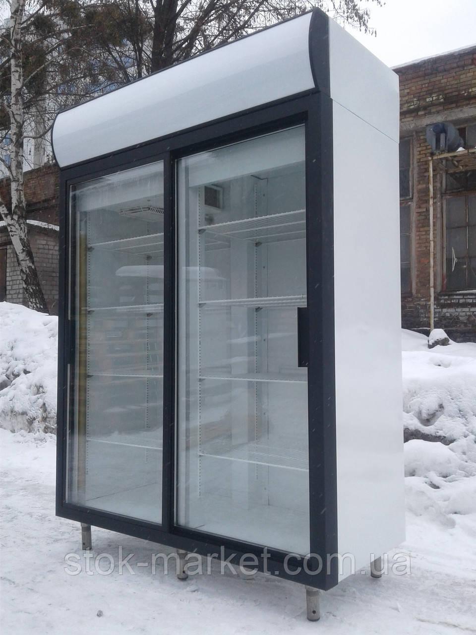 Холодильный шкаф Polair dm 110 sd-s б/у, холодильный шкаф купе б у, шкаф витрина б/у