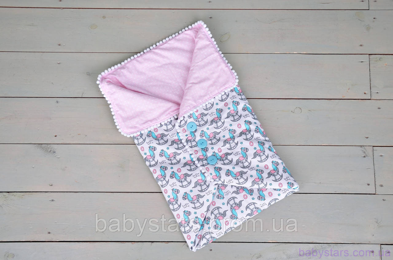 Одеяло-конверт с пуговицами, Волшебные пони