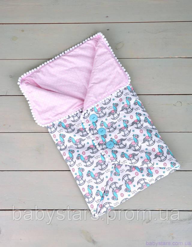 Конверт-одеяло для новорожденного на пуговках