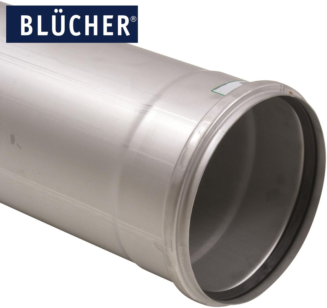 Каналізаційна труба BLUCHER з нержавіючої сталі AISI304 / AISI316L, 2000мм, DN200