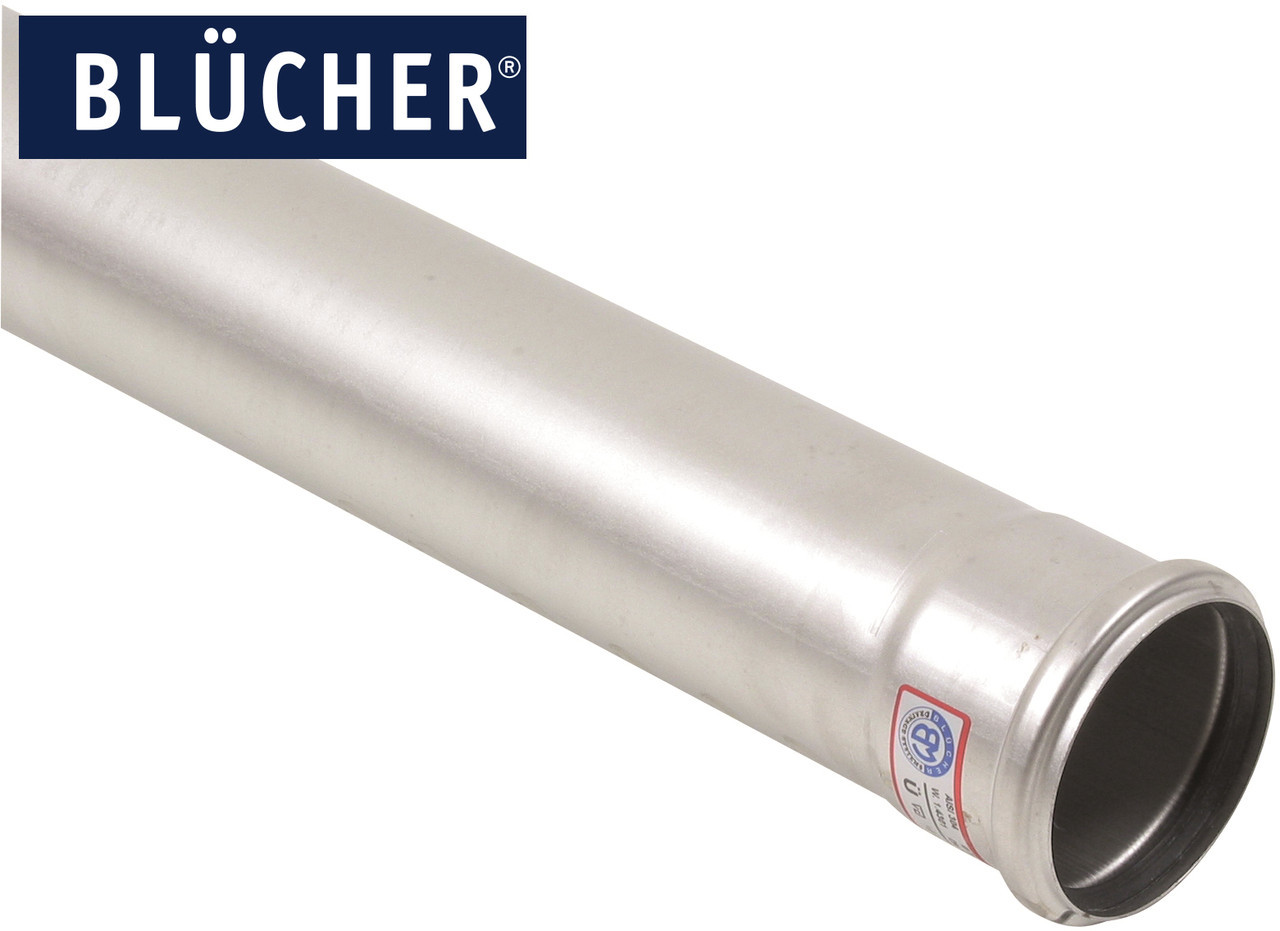 Каналізаційна труба BLUCHER з нержавіючої сталі AISI304 / AISI316L, 3000 мм, DN75