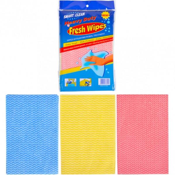 Тряпка Fresh Wipes 3 цвета по 3 шт, полиэстер (29×19 см)