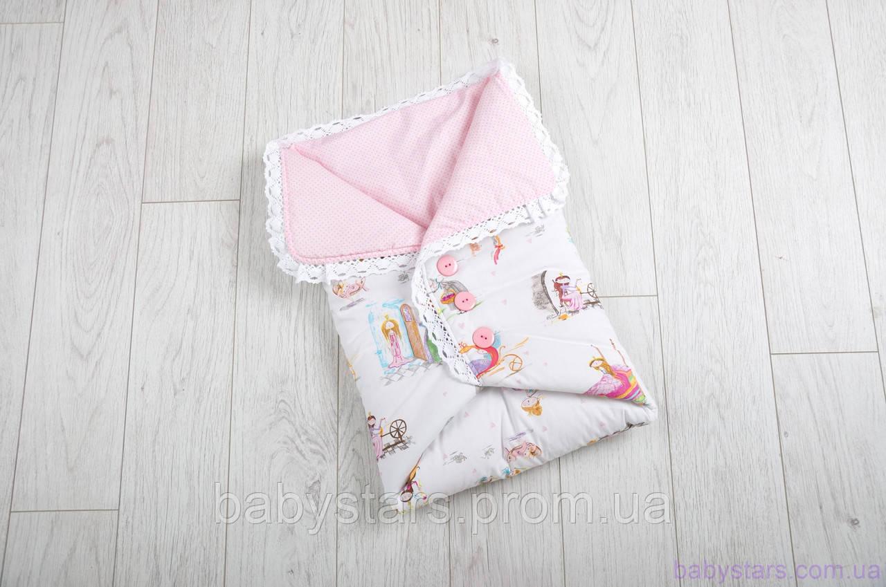 Одеяло-конверт для новорожденного с пуговицами, Сказочное мгновение