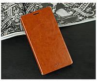 Кожаный чехол книжка MOFI для Lenovo Vibe Z2 Pro K920 коричневый, фото 1