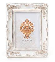 Рамка для фото Розы 24.5см, цвет - белый с золотом