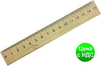 Линейка деревянная 15 см (шелкография) 103005