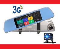 "DVR 702 Зеркало регистратор, 7"" сенсор, 2 камеры, GPS навигатор, WiFi, 8Gb, Android, 3G"