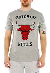 Мужская футболка Chicago Bulls - Серая c принтом быка (чоловіча футболка)