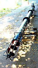 Винтовой транспортер (шнековый загрузчик) диаметром 219 мм, длиной 8 метров, фото 3