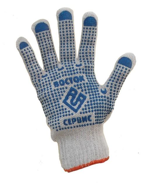 Рабочие перчатки с ПВХ точкой «Восток» 750 гр.