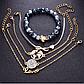 Набор женских браслетов с подвесками код 1579, фото 2
