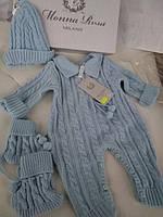 Трикотажный п/шерстяной набор для новорожденного