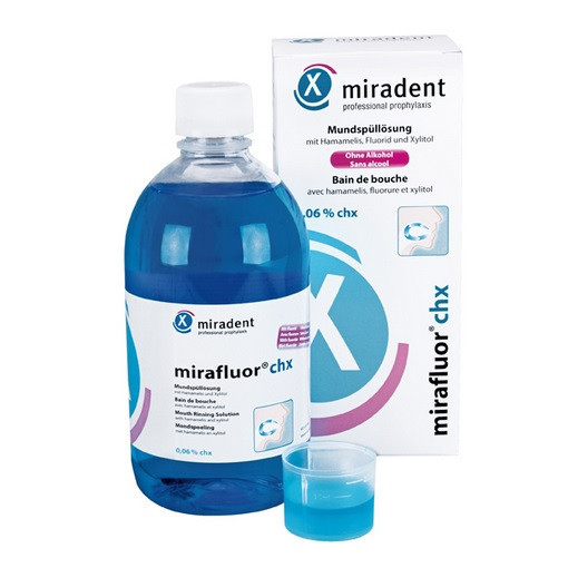 Mirafluor ополіскувач з CHX 0,06% (500 мл), Miradent