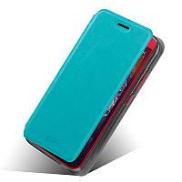 Кожаный чехол книжка MOFI для HTC Desire 616 бирюзовый