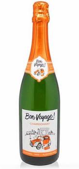 Безалкогольное шампанское Шардоне белое полусладкое Бон Вояж (Bon Voyage)