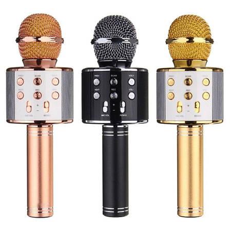 Беспроводной караоке микрофон bluetooth WS858-1 CG01 PR3, фото 2