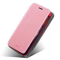 Кожаный чехол книжка MOFI для HTC Desire 616 розовый