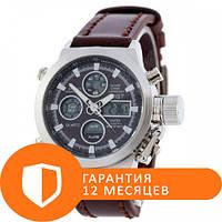 Наручные часы AMST C Silver-Black Brown Wristband