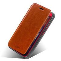 Кожаный чехол книжка MOFI для HTC Desire 616 коричневый