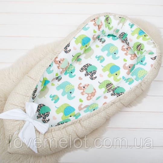 Кокон гнездышко, бейбинест, кроватка для новорожденных, люлька, бортики, кроватка 0-9месяцев