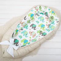 Кокон гнездышко, бейбинест, кроватка для новорожденных, люлька, бортики, кроватка 0-9месяцев, фото 1