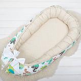 Кокон гнездышко, бейбинест, кроватка для новорожденных, люлька, бортики, кроватка 0-9месяцев, фото 2