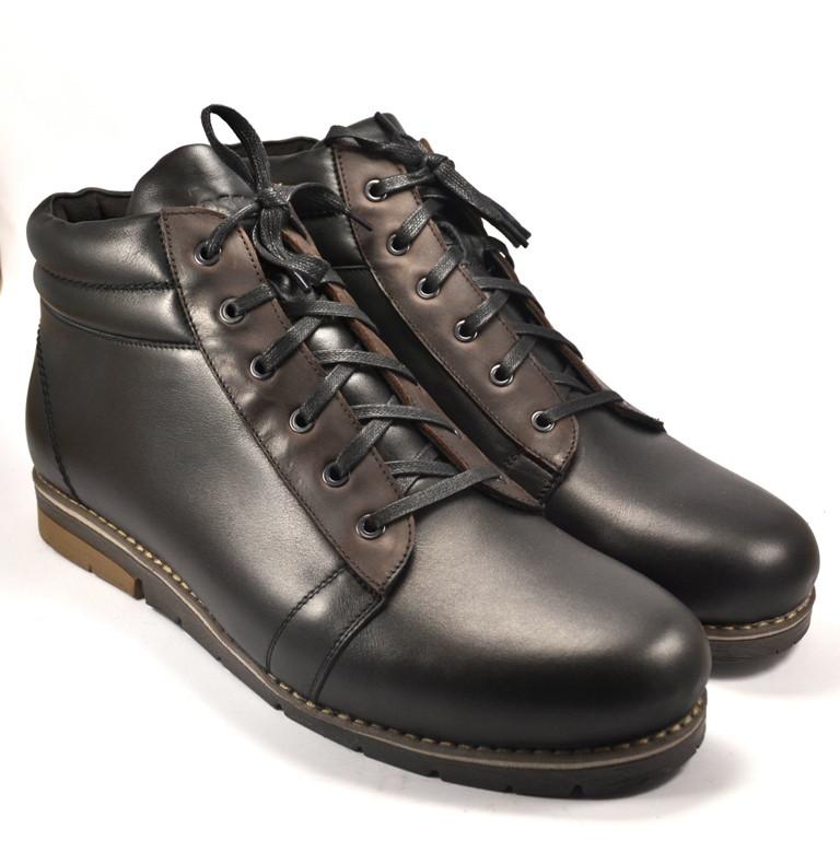 e787d6ee2 Большой размер. Зимние кроссовки мужские кожаные на меху Rosso Avangard BS  Bridge Cross черные