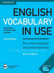 Книга English Vocabulary in Use Fourth Edition Pre-Intermediate and Intermediate with eBook