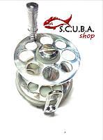 Катушка с диском для подводной охоты алюминиевая 55 мм
