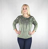 Модная женская кофта «Piamara» темно-зеленого цвета, фото 1