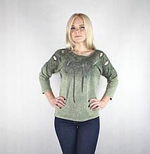 Модная женская кофта «Piamara» темно-зеленого цвета