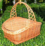 Великодній плетений кошик з лози, фото 1