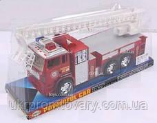 Инерционная пожарная машина, выдвижная лестница