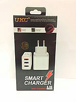 Адаптер UKC Smart Charger 2,4A (2 USB)