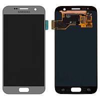 Дисплейный модуль (экран и сенсор) для Samsung Galaxy S7 G930, серебристый, оригинал #GH97-18523B