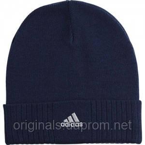 online store 4e104 807a6 Шапка синяя Adidas Ess Corp Woolie W57499 - интернет-магазин Originals -  Оригинальный Адидас,
