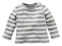 Реглан для мальчика  белыйв серую полоску Lupilu р.62/68, фото 1