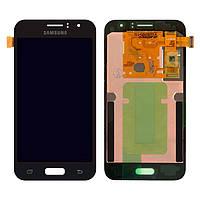 Дисплей для Samsung Galaxy J1 (2016) J120, модуль (экран и сенсор), черный, оригинал #GH97-18224C