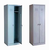 Шкаф гардеробный металлический АМК-300/2-3 разборной 1800x600x500 мм, крепление заклепками