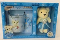 Чашка, ложка, медвежонок - подарок на 14 февраля