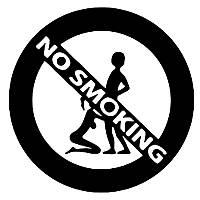 Наклейки - NO SMOKING черные