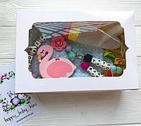 Подарочная упаковка грызунка ,слюнявчика или набора