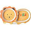 """Детский набор эко-посуды из бамбукового волокна """"Лев"""", фото 4"""